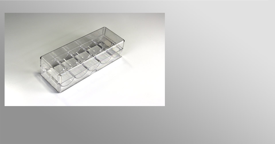 Rack transparent - 100 jetons